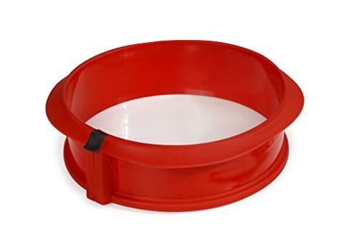 Lékué Duo redondo rojo Molde pastel, Silicona, 23 x 7 x 23 cm
