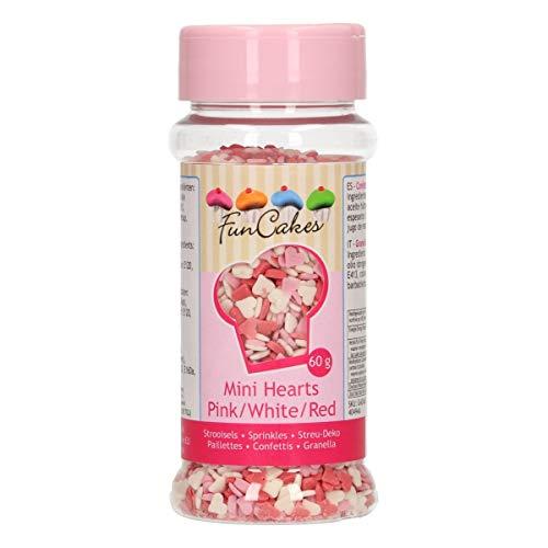 Unbekannt FunCakes-Corazones pequeños (60 g), Color Rosa, Blanco y Rojo, 0, 2