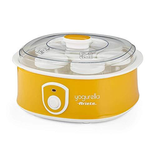 Ariete Yogurtera 617 de 1.3 litros, 7 tarros de cristal, tapa transparente, botón encendido...
