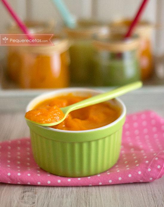pure de patatas y zanahoria para bebes