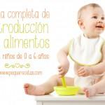 Alimentación complementaria, tabla de introdución