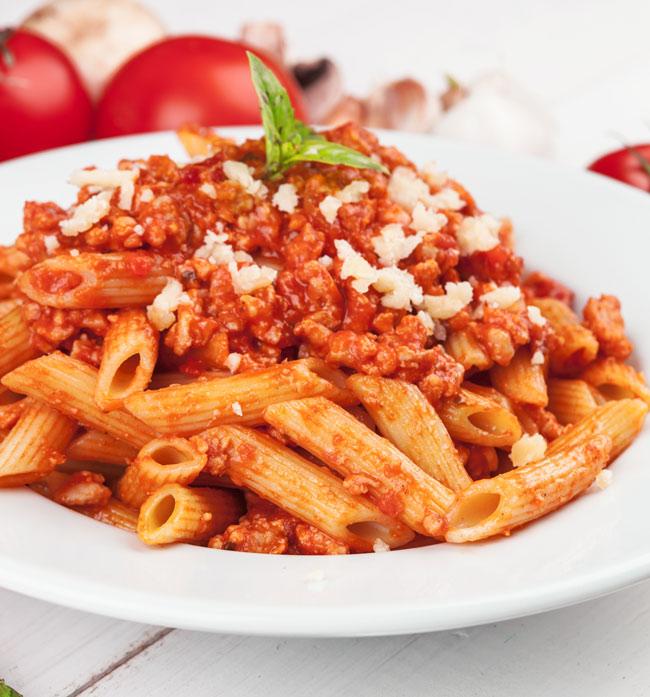 receta macarrones a la boloñesa