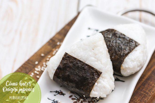 como hacer onigiri japones receta