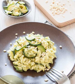 risotto de verduras con calabacin