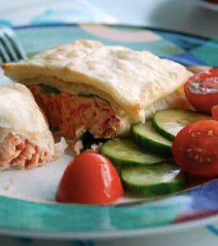 salmon horno pasta filo