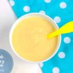 Puré para bebes quinoa y platano