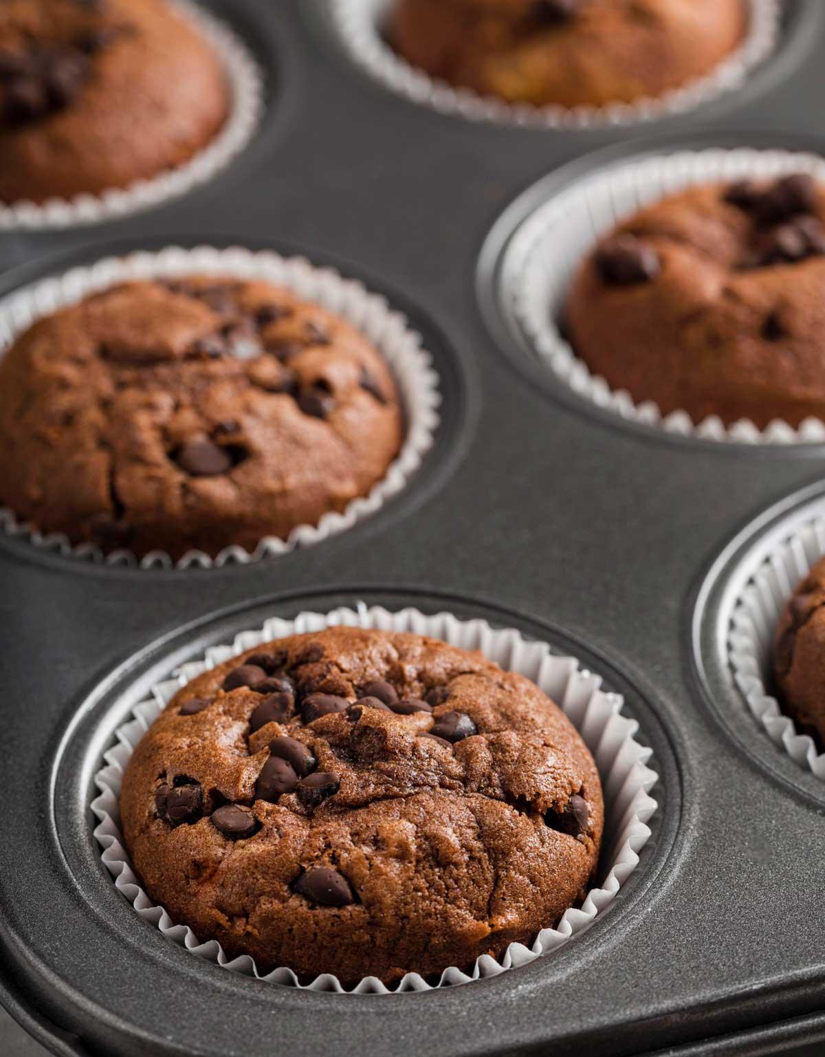 muffins de chocolate faciles