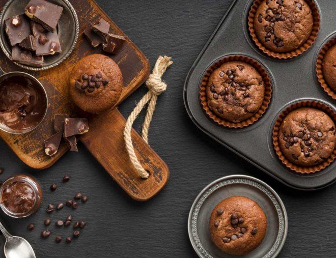 muffins de chocolate receta