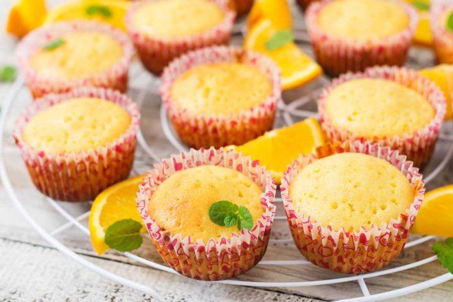 magdalenas de naranja receta