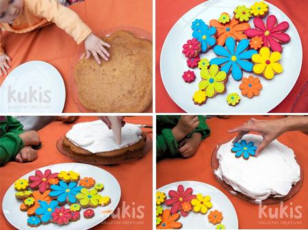 Tarta de cumplea os primaveral pequerecetas - Preparacion de cumpleanos infantiles ...