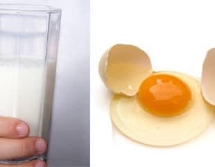 Alergia a huevo y leche
