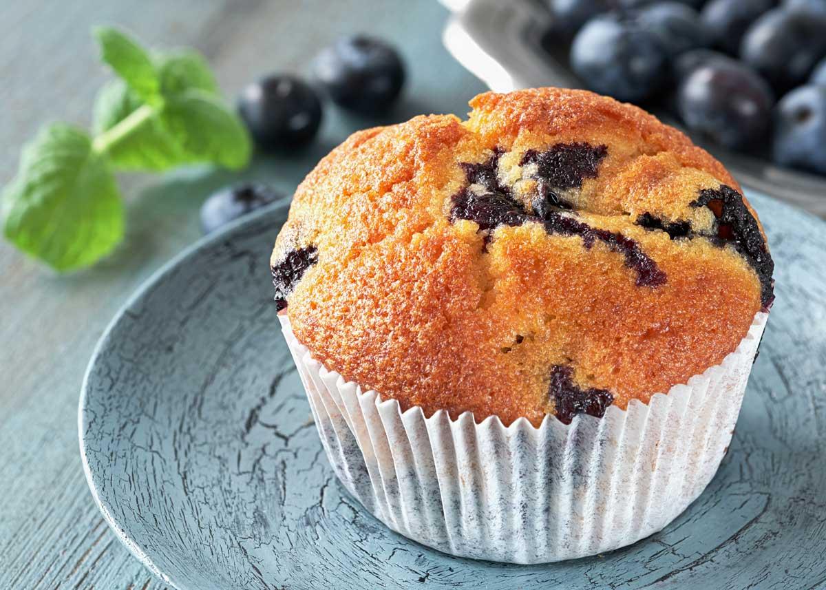 como hacer muffins de arandanos