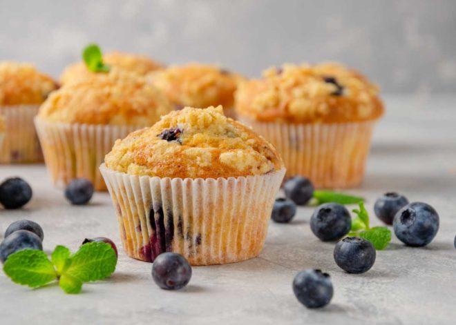muffins con arándanos receta