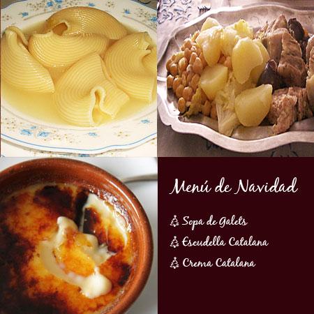 Menú de Navidad Cataluña