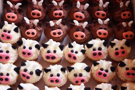 Cupcakes vaca