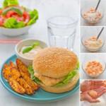 hamburguesas de salmon receta
