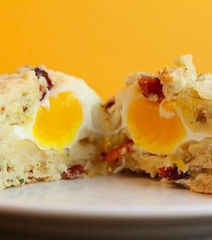 muffins de huevo con bacon