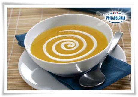 Crema de calabaza con Philadelphia