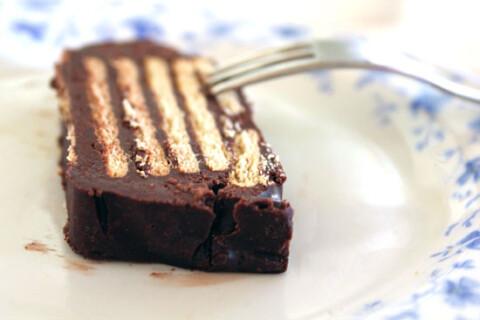 Tarta de galletas y cacao