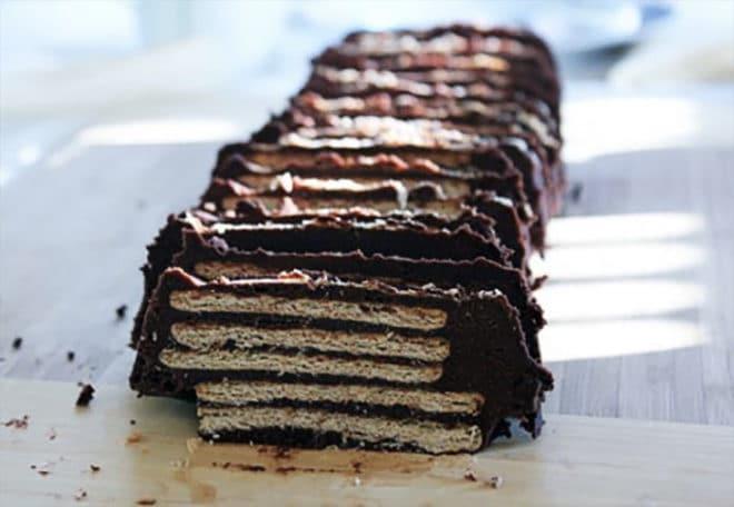 tarta de galletas y chocolate sin horno receta