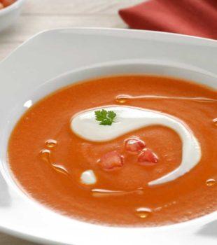 crema de tomate con queso philadelphia