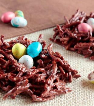 nidos de chocolate huevos pascua