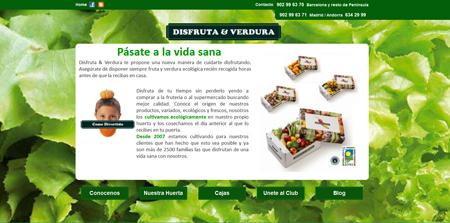 web disfruta y verdura