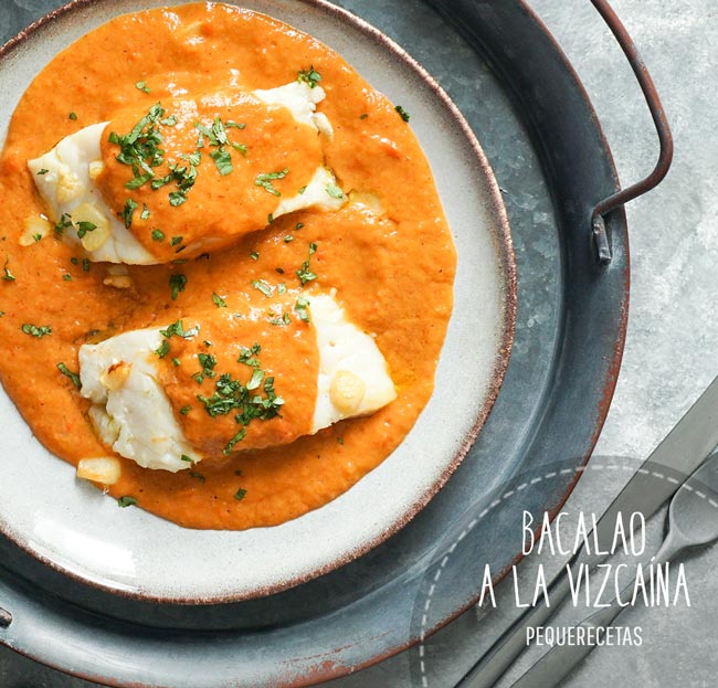 bacalao en salsa vizcaína receta