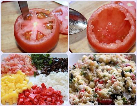 tomates rellenos paso 2