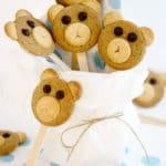 Osito-piruletas: ricas galletas de bizcocho