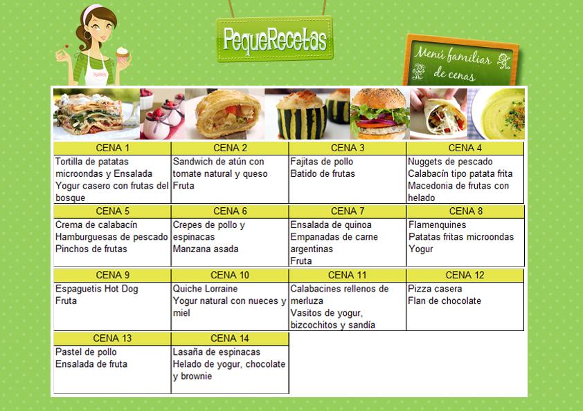 Cenas f ciles 2 semanas de cenas f ciles y r pidas for Menu para comida familiar