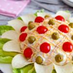 Flor de ensaladilla rusa
