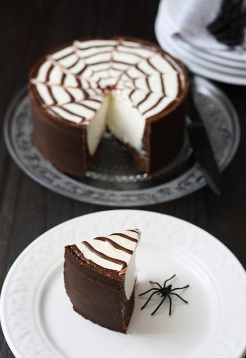 Tarta de queso facil para Halloween