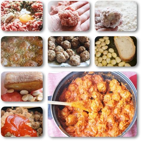 Albóndigas con tomate receta