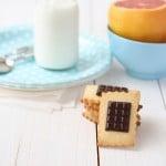 Galletas de mantequilla con chocolate, tipo Petit Ecolier