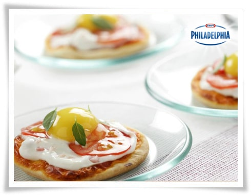 Receta Phialdelphia minipizzas