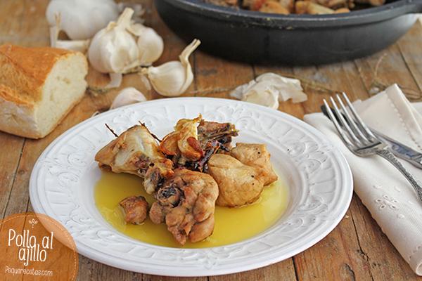 Pollo al ajillo pequerecetas - Cocinar pollo al ajillo ...