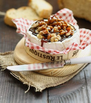 camembert con nueces receta