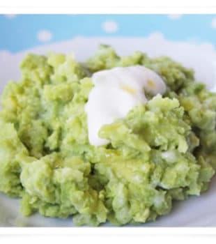 ensalada de patata y aguacate para bebés