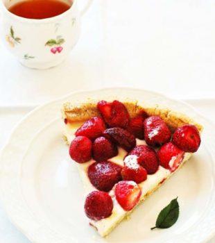 tarta sin gluten de chocolate y fresa