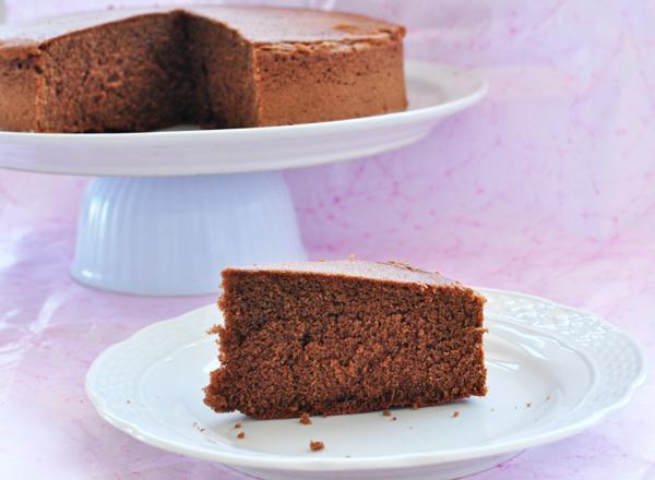 Bizcocho de chocolate sin gluten sin lactosa