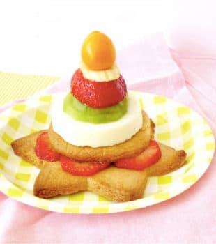 mousse de queso y fruta