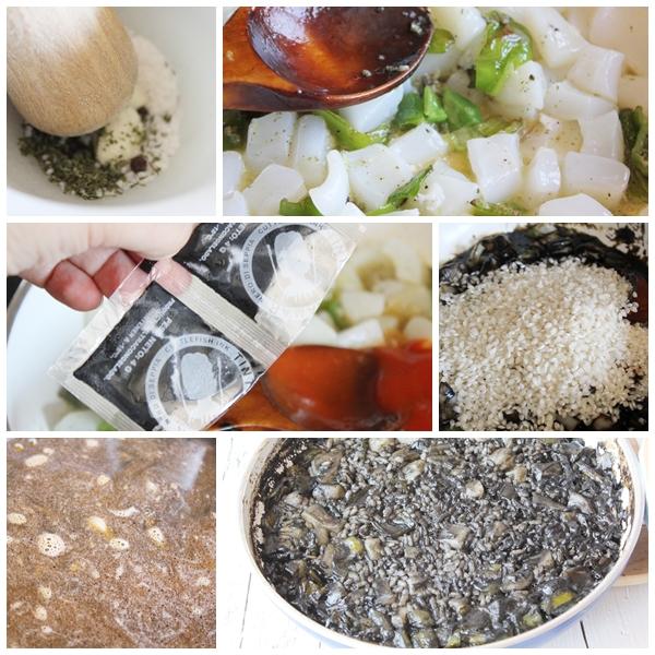 Arroz negro receta