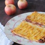 Tarta de manzana de hojaldre con crema