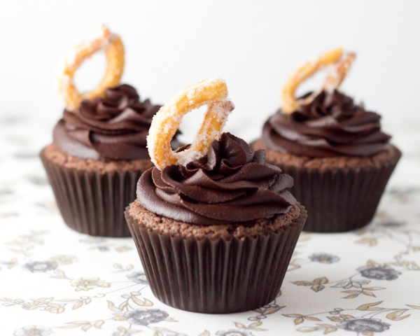 cupcakes chocolate con churros