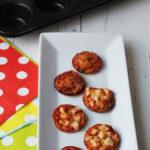 Minipizzas crujientes con tortillas de trigo