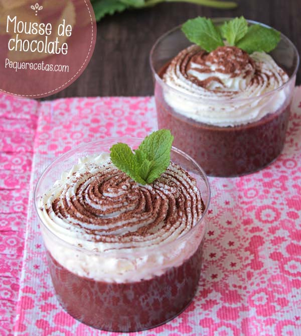 mousse de chocolate receta