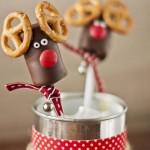 Piruletas de chocolate para Navidad