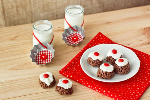 dulces de navidad de chocolate