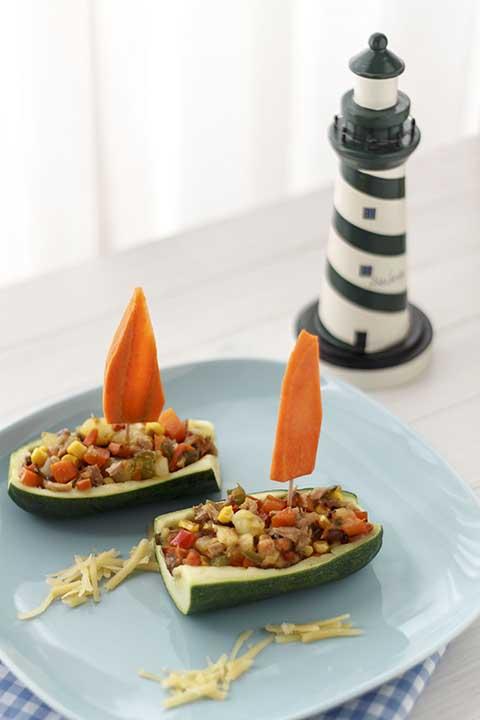 verduras en calabacin